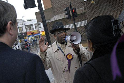 Winston McKenzie on the campaign trail last week