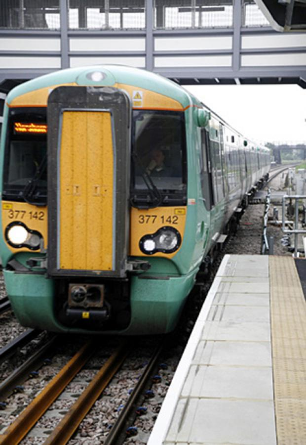 The Southern service was cancelled due to the discovery of mysterious liquid
