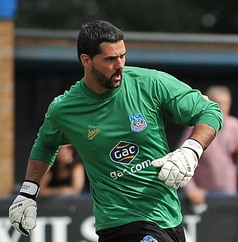 Shot Stopper Speroni: Palace's Julian Speroni has is looking forward to the Brighton game the atmosphere it creates     Picture: Dave Budden