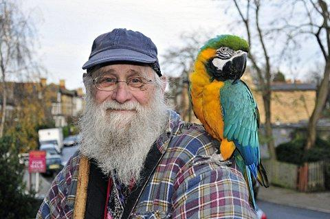 CJ Harwood, with his other parrot Jack, is hoping to find Annie.