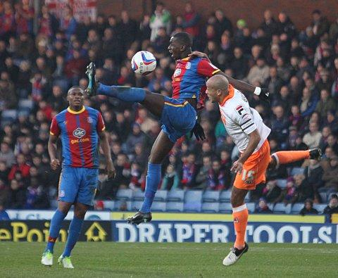 High and dry: Yannick Bolasie is about to come back to earth with a mighty thud   SP70859