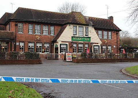 The stabbings occured at the Midday Sun pub in Chipstead