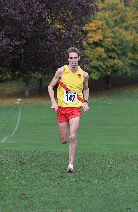 Front runner: Fred Slemeck finished the Richmond Park race in 13th place (43:09)