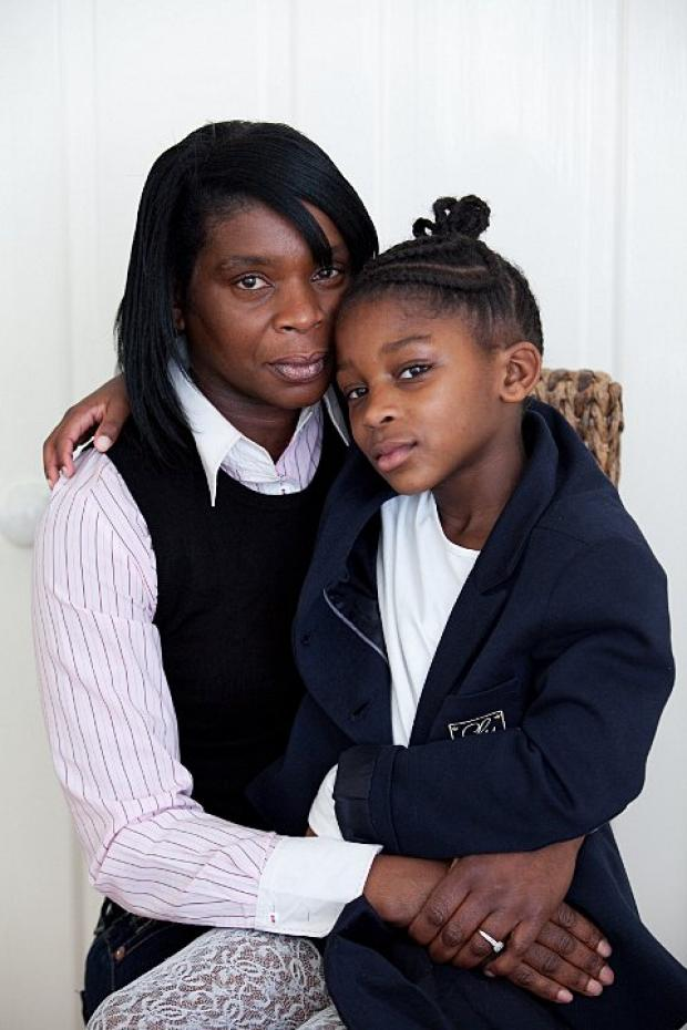 Eight-year-old Lauryn Williams Lewis and her mum Coral