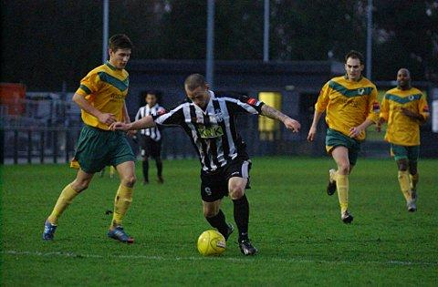 Tough times in December: Laurent Hamici was on target against Horsham, but the Terrors still lost 3-1 on Saturday   SP70809