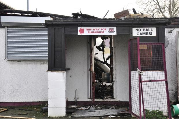The club house was completely destroyed in the blaze