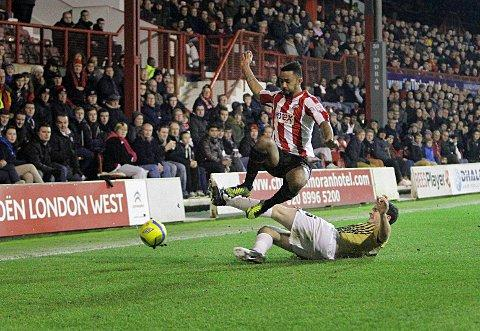 Signature: Shaleum Logan has penned a new 18-month deal at Brentford