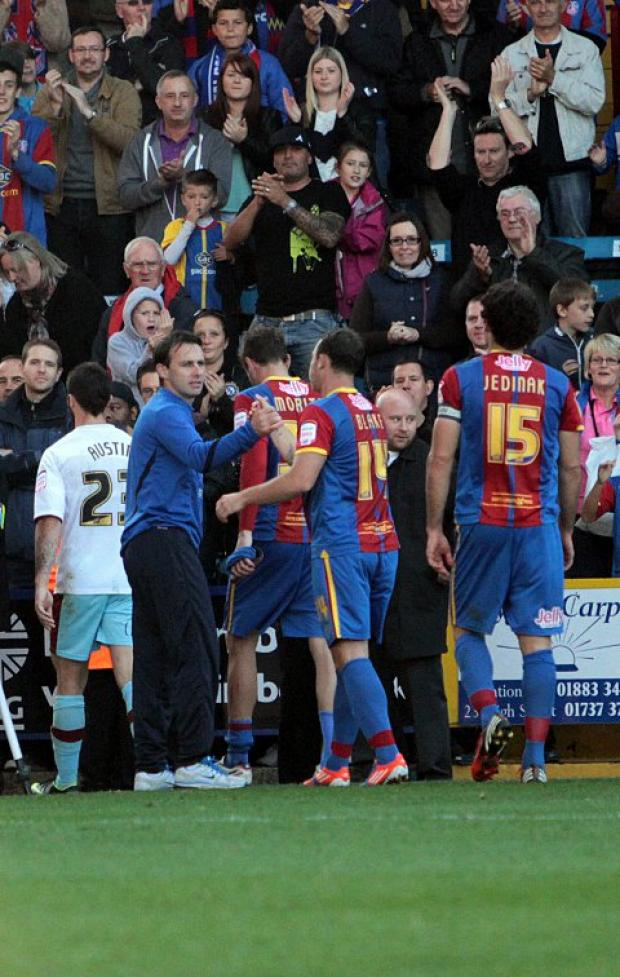 For old times: Freedman had a special relationship with the Selhurst Park faithful   CR70783