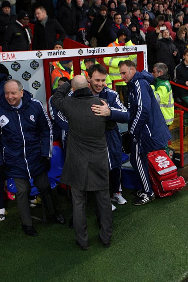 Dougie Freedman is welcomed back to Selhurst by his successor Ian Holloway