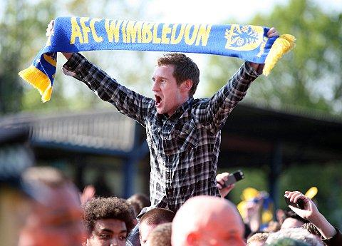 Committed: AFC Wimbledon fans top the League Two table when it comes to following the club on Twitter      Picture: Jeff Beasley