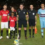 Sapphire Timson was mascot at Manchester United's game against West Ham