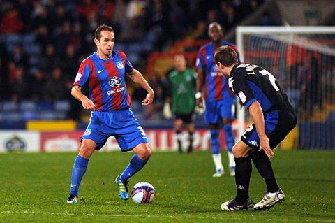 Cheerio old boy: Palace midfielder David Wright has joined Colchester United    SP59575