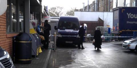 The G4S van was robbed on London Road, Norbury