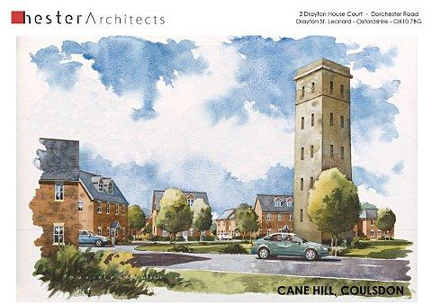 Artist impression of the Cane Hill site