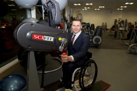 Croydon Guardian: David Weir testing out the new facilities at Waddon Leisure Centre