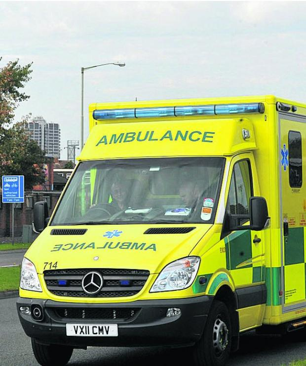 Ambulance crews took the boy to hospital after robbers stamped on his head