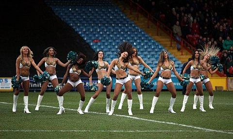 Cheerleaders from the Jacksonville Jaguars