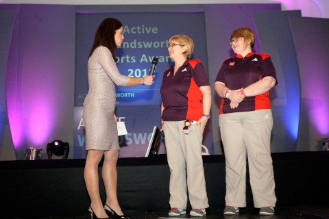 Croydon Guardian: Olympic volunteers Jayne Mitchell and Liz Gibson and Anna Hemmings