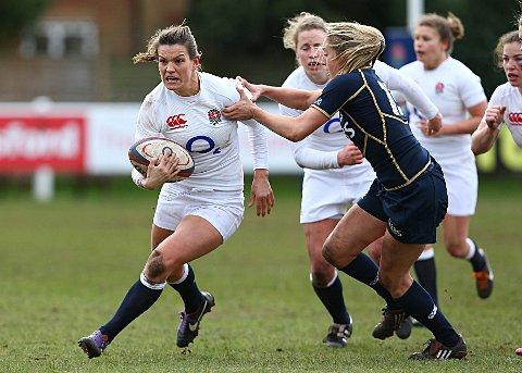 Local hero: Abigail Chamberlain on her England Women debut against Scotland