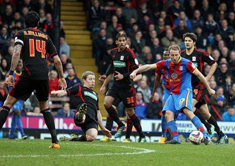 Goal machine: Glenn Murray fires Palace 3-0 ahead at Selhurst Park     SP72947