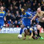 Croydon Guardian: Going away: Toby Ajala's time with AFC Wimbledon is fast approaching its end as the loanee is due back at Bristol City    SP73094