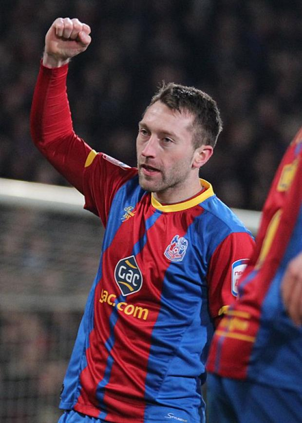 Off the mark: Stephen Dobbie opened his Palace account with the second goal against Bristol City    SP74107