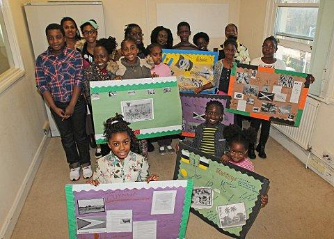 Youngsters display their presentations