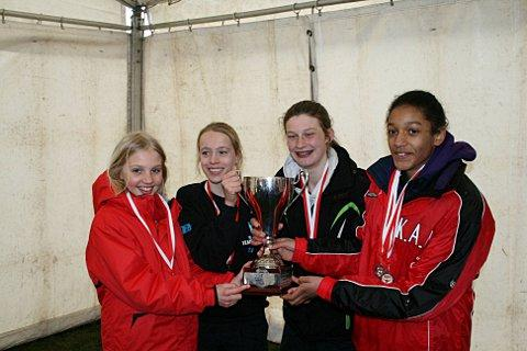 Heroes: (left to right) Alex Brown, Eloise O'Shaughnessy, Saskia Millard and champion Katy-Ann McDonald