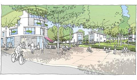 An artist's impression of the Cane Hill development