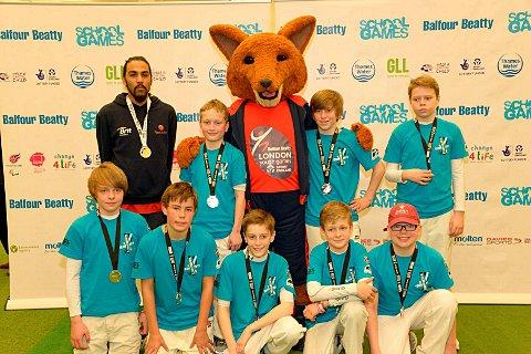 Close: Wandsworth's boys with their silver medals