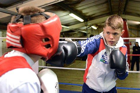 Hitting out: Charlie Edwards is angry after being kicked out of the ABA Championships
