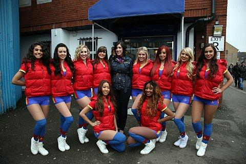 The Crystals with CPFC marketing manager Sharon Lacey.