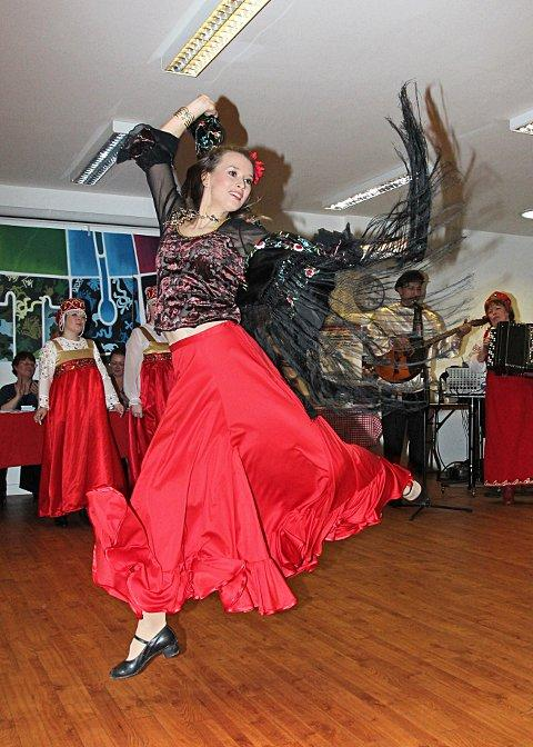 Russian dancers at the Croydon Voluntary Action resource centre