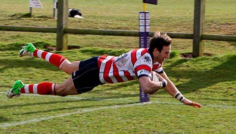 Dom-inator: Dom Shabbo's try put Park in a winning position but they buckled under pressure late on. Credit David Whittam