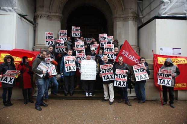 Protestors campaign against bedroom tax
