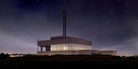 How the incinerator will look by night