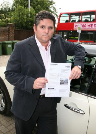 Jonathan Greatorex was fuming after receiving the ticket