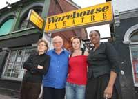 The Warehouse Theatre is launching a campaign against its funding cut. Theatre director Ted Craig (second left) with colleagues, Evita Bier, Georgia Doxanaki and Shanah Alexander.