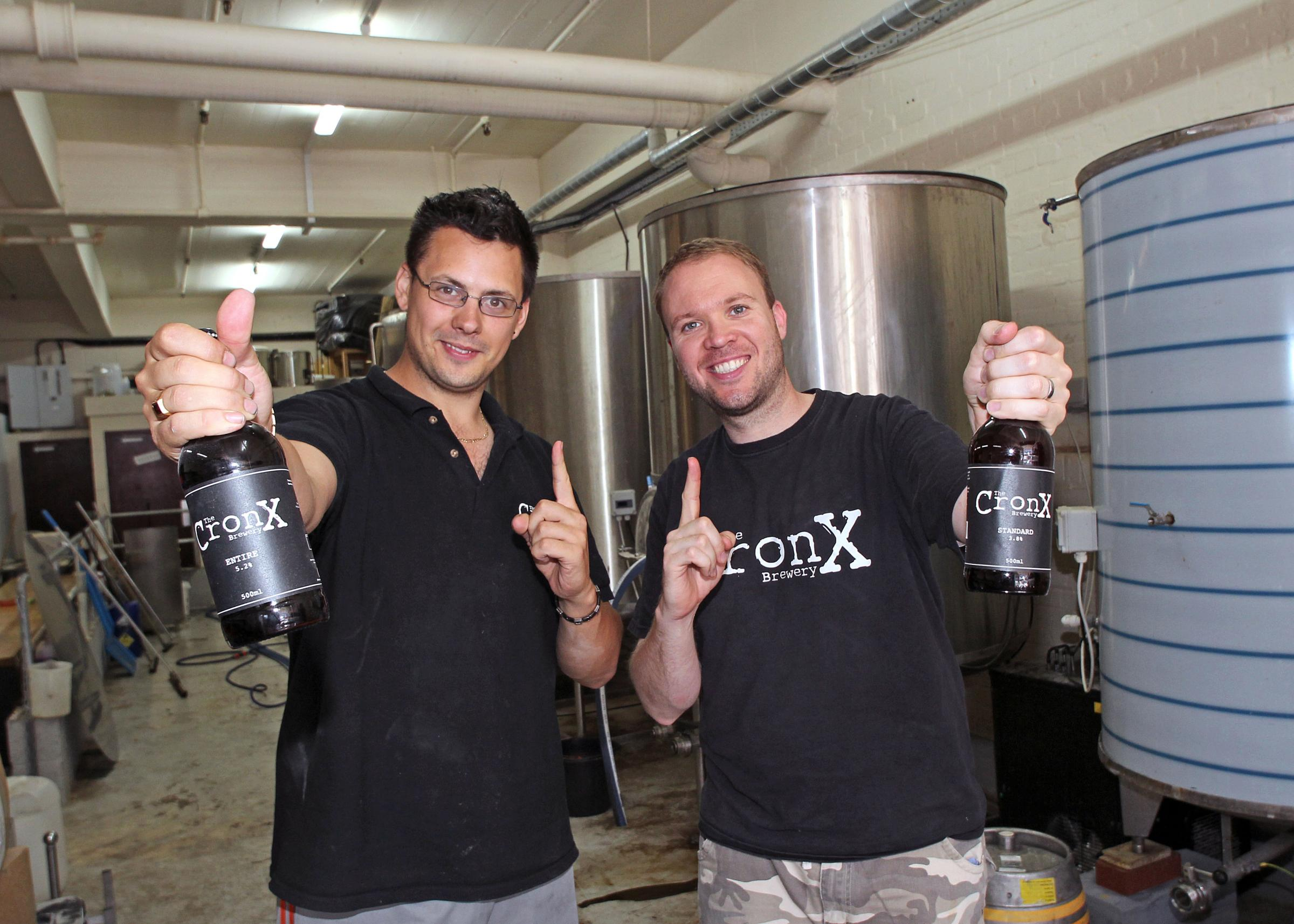 Mark Russell and Simon Dale, the Cronx brewers