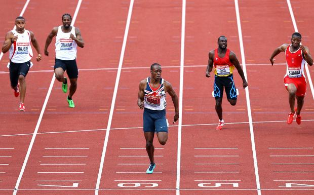 Croydon Guardian: First man home: James Dasaolu clocked 9.91secs over 100m at the British Championships last year         Picture: Jan Kruger