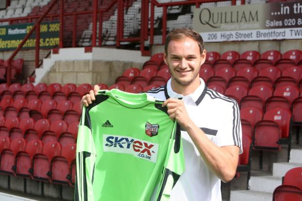 On the move: David Button has joined Brentford from Charlton Athletic        Picture: Brentford FC
