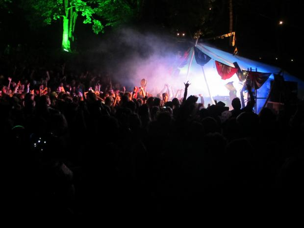 The rave attracted 3,000 revellers