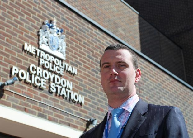 Croydon Guardian: Detective Superintendent Simon Messinger said 150 arrests were made last year for offensive weapons or firearms offences