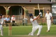 Double ton: Dominic Sibley scoring 200 off 218 balls for Ashtead against Weybridge in 2011