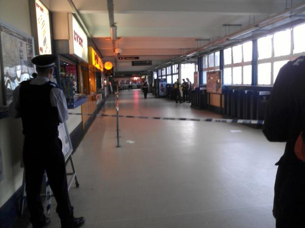 Wimbldeon station was closed by police following the fatality this afternoon