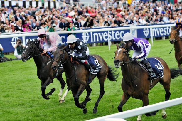 Horse racing is back again at Epsom Downs