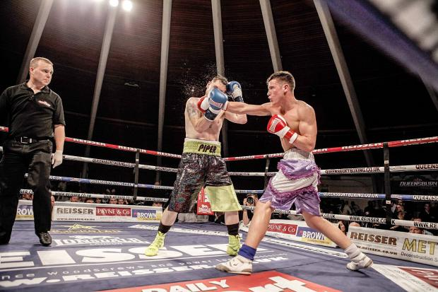 Itching to return: Teddington boxer Kieran Leinster was in impressive form during his last Queensbury Boxing League out last year