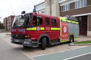 Firefighters attended the bin fires
