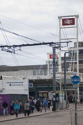 The officer was attacked at East Croydon rail station