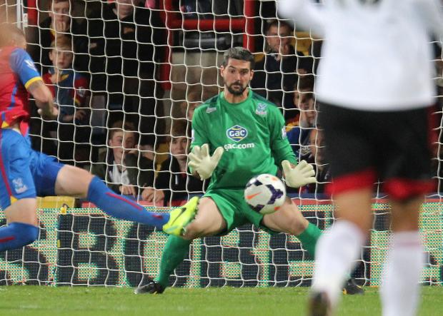 Putting pen to paper: Julian Speroni has impressed Tony Pulis since his arrival